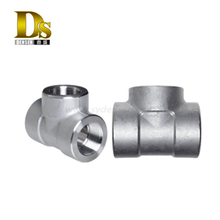 Densen customized Stainless Steel Threaded Equal Tee Forged