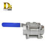 Densen Customized stainless steel 316 investment casting 3 pcs ball valve,3 way ball valve