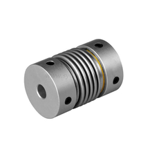 Densen customized Metal Bellows Clamp Type Spring flexible shaft Coupling for Step Motor