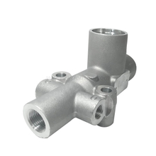 Densen Customized OEM precision cast aluminum A356 gravity casting valve body for high-speed rail parts machining