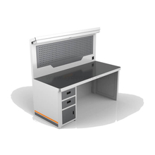 Densen Customized Metal Heavy Duty Steel Industrial Workbench Tool Storage Cabinet With Back Panel